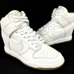 Nike Dunk Sky High Wedge White Sneaker 644877-103